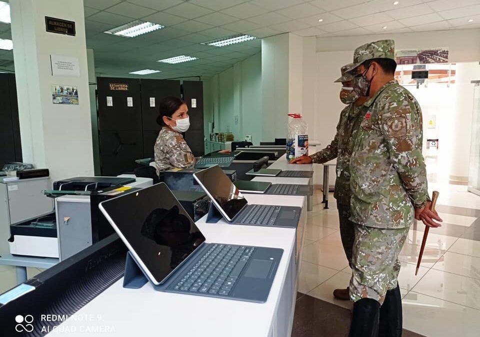 Biblioteca General y Aula Virtual es inspeccionada por el COEDE.